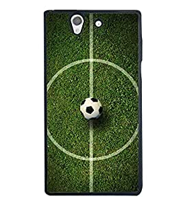 Football 2D Hard Polycarbonate Designer Back Case Cover for Sony Xperia Z :: Sony Xperia C6603 :: Sony Xperia C6602 :: Sony Xperia Z LTE, Sony Xperia Z HSPA+