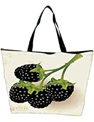 Snoogg Blackberries Vector Waterproof Bag Made Of High Strength Nylon