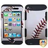 White Baseball Sports TUFF Hybrid Protector Cover Case APPLE iPod Touch 4th Gen