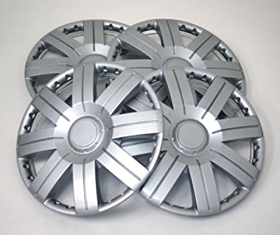 TuningPros WSC-613S15 Hubcaps Wheel Skin Cover 15-Inches Silver Set of 4