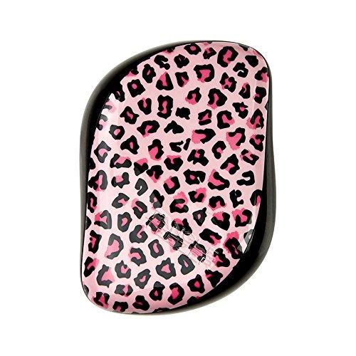 Tangle Teezer, Spazzola compatta per capelli, motivo leopardato, Rosa