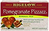 Bigelow Pomegranate Pizzazz Herbal Tea, 20-Count Boxes (Pack of 6)