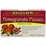 Bigelow Pomegranate Pizzazz Herbal Tea, 20-Count Boxes (Pack of 6) ~ Bigelow Tea
