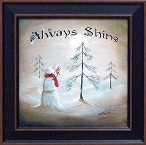 Always shine by margie mcginnis 16x16 framed for Christmas wall art amazon
