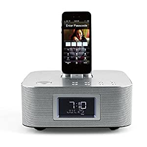bluetooth clock radio with lightning connector dock home kitchen. Black Bedroom Furniture Sets. Home Design Ideas