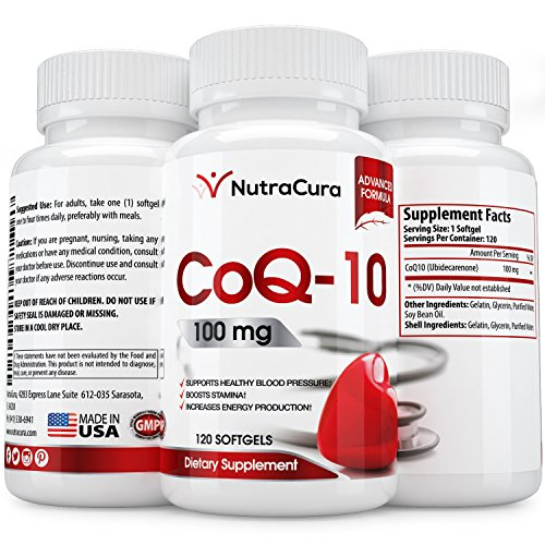 #1 CoQ10 Supplement 100mg - 120 Softgels - Co Q 10 Promotes a Healthy Heart - coq 10 Helps Blood Pressure & Brain Function - Q10 Combats Signs of Aging - co-q-10 Antioxidant - Made in the USA (Co Q10 Sundown compare prices)