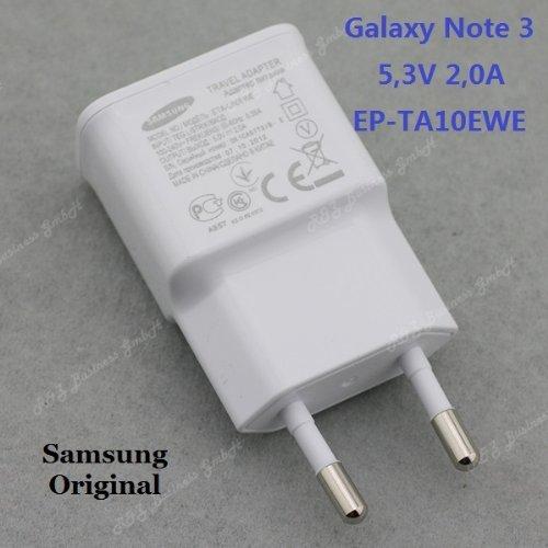 LA012 Original SAMSUNG EP-TA10EWE GALAXY Note 3 Netzteil Ladegerät Weiß 5.3V 2A