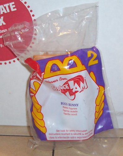 1996 Mcdonalds Space Jam Bugs Bunny Happy Meal Toy #2 MIP - 1