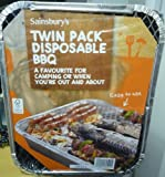 FSC Twin Pack Instant Disposable BBQ Barbecue Camping Cooking Picnic x 6 Packs (Total 12 BBQs)