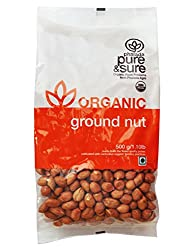 Pure & Sure Organic Ground Nut, 500g
