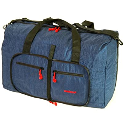 Large 80 Litres Foldable Cargo Travel Bag (Navy)
