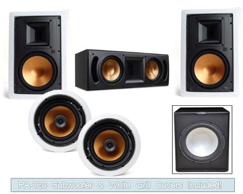 Klipsch R-3650-Wii In Wall System (Rc-52Ii Center-Free Sub)