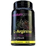 Naureganics 100% Pure L-Arginine- 1000mg Per Capsules- Premium Amino Acid Formula for Pre-WorkOut - Support Nitric Oxide Levels, Boosts Energy Levels and Endurance!
