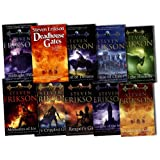 Steven Erikson Collection The Malazan Book of the Fallen 10 Books Set Pack RRP: �100.38 (The Malazan Book of the Fallen) (Deadhouse Gates, Reapers Gale, Midnight Tides, Memories of Ice, Deadhouse Gates, House of Chains, Gardens of the Moon, Dust of Dreams, The Crippled God, Toll the Hounds)by Steven Erikson