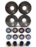 Everland Skateboard Wheels 60x44mm w/ Bearings & Spacers