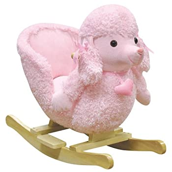 Charm Company Mitzi Poodle Rocking Chair with Sound