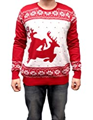 Christmas Sweater Humping Reindeer X Large