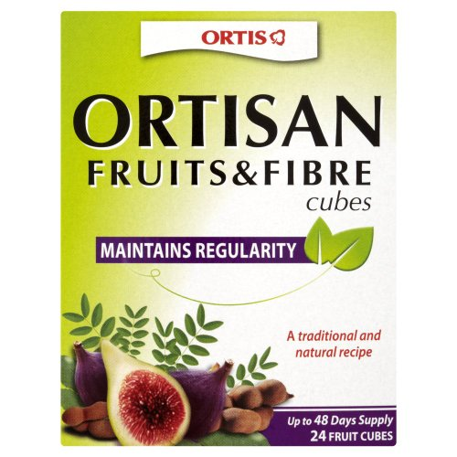 Ortis Ortisan Natural Laxative 24 Fruit and Fibre Cubes