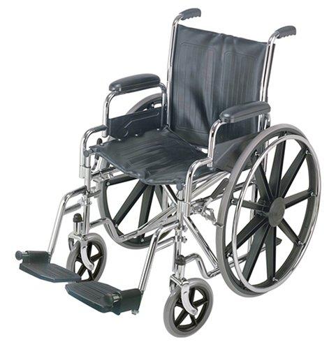 Duro-Med 18 Standard Wheelchair, Silver/Black