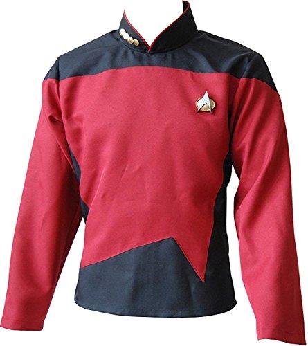 [Dben Men's Cosplay Dress Top Suit Red Shirt Uniform Costume] (Malcolm Merlyn Costume)