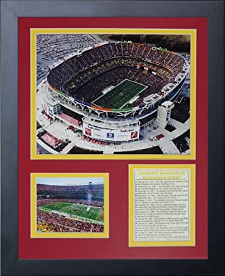 Legends Never Die Washington Redskins, FedEx Field Framed Photo Collage, 11x14-Inch