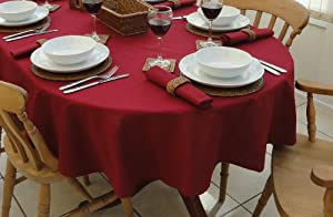 WINE OVAL TABLECLOTH (8 SEATER)55x98""