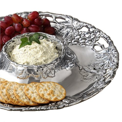 Arthur Court Grape 14-Inch Round Chip and Dip Tray (Grape Dip compare prices)