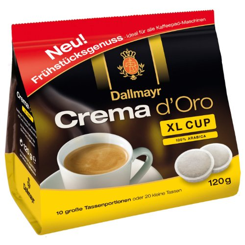 Buy Dallmayr Coffee Pods Crema d Oro XL Cup, 10 Pods from Alois Dallmayr