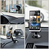 TaoTronics Car Windshield / Dashboard Universal Phone Mount Holder, Car Mobile Phone cradle for iPhone / Android