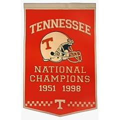 NCAA Tennessee Volunteers Dynasty Banner by Winning Streak