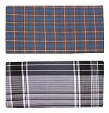 Dm Cool Cotton Men's Cotton Lungis- Pack of 2 (Multi-Coloured)