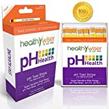HealthyWiser Ph Test Strips, 100ct Per Pack Accurate Results in 15 Seconds - Monitor Your Ph Daily