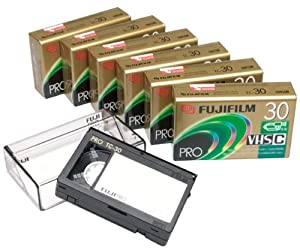 Fujifilm VHS-C Pro TC30 Camcorder Videocassette, 7 Pack (Discontinued by Manufacturer)
