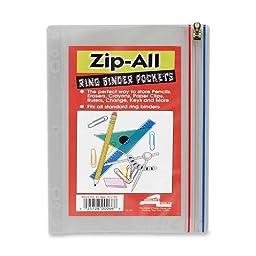 Anglers Zip All Ring Binder Pocket - 8\