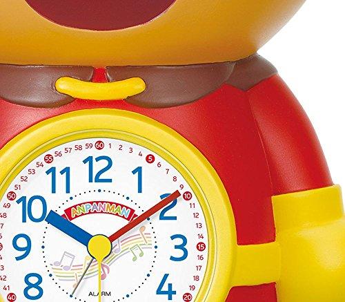 それいけアンパンマン(リズム時計) おなじみのアンパンの声で楽しく起してくれます。 アンパンマンめざましとけい 茶色 4SE552-M06