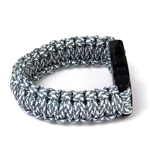 23cm-Bracelet-Paracord-Bracelet-de-Survie-Corde-de-Parachute-avec-Boucle-Plastique-Camo-dACU-Digital