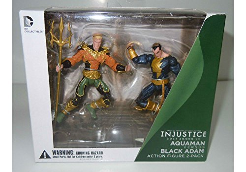 Aquaman vs Black Adam DC Collectibles Injustice Action Figure 2-Pack New Sealed by unbranded