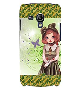 ColourCraft Cute Girl Back Case Cover for SAMSUNG GALAXY S3 MINI I8190