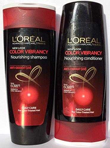 L'Oreal Paris Advanced Haircare Color Vibrancy Nourishing, DUO Set Shampoo + Conditioner, 12.6 Ounce, 1 Each (Loreal Conditioner Color Vibrancy compare prices)