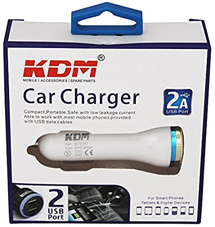 KDM 2.1A Dual USB Car Charger