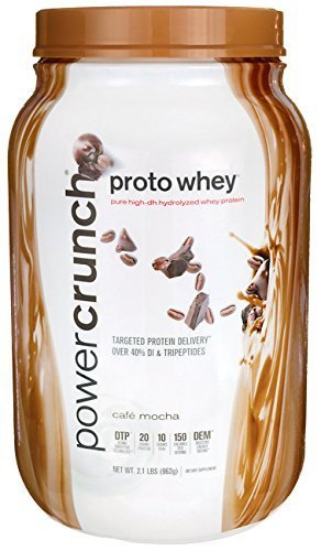 Power Crunch Proto Whey Cafe Mocha 2.1 lbs (962 grams) Pwdr by Bionutritional Research Group