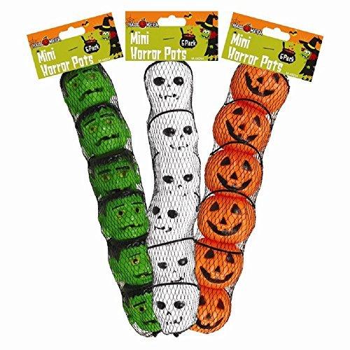 18x Halloween Mini Confiserie Pots/ Fête décorations- Potiron, Squelette et Frankenstein