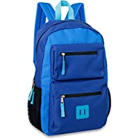 Sutton & Sons 18 Inch Double Pocket Backpack (Blue)