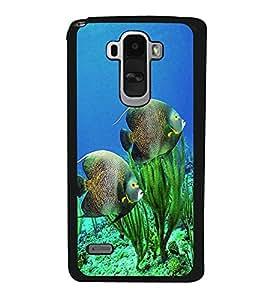 printtech Fish Ocean Coral Back Case Cover for LG G4 Stylus ,Versions: H631 (T-Mobile); MS631 (Metro PCS); H635 (EMEA); H540 (UAE); H630D (India); H542 (Mexico)