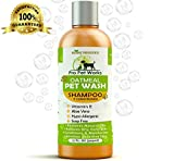 Hypoallergenic All Natural Organic Oatmeal Pet Wash Dog Shampoo & Conditioner with Aloe Vera-Medicated & Vet Recommended Anti-Itch Formula for Allergies & Sensitive Itchy Skin 17oz