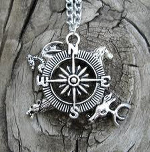 Cyqun(Tm) A Song Of Ice And Fire Game Of Thrones Compass Necklace Pendant Wholsale