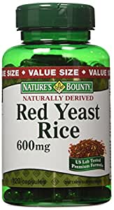 Amazon.com: Nature's Bounty Red Yeast Rice 600mg, 120