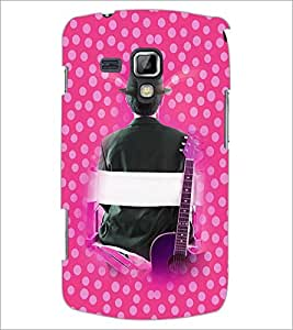 PrintDhaba Boy and Guitar D-2510 Back Case Cover for SAMSUNG GALAXY S DUOS 2 S7582 (Multi-Coloured)