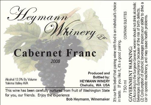 2008 Heymann Whinery Cabernet Franc 750 Ml