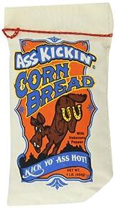 Ass Kickin' Corn Bread, 16-Ounce Muslin Bags (Pack of 6)
